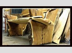 Hand Made Live Edge Rustic BenchCrotch Wood Slabs by
