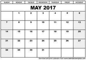 may 2017 printable calendar printable calendar 2017 templates