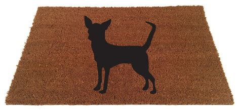 Chihuahua Doormat by Chihuahua Silhouette Coir Doormat Contemporary