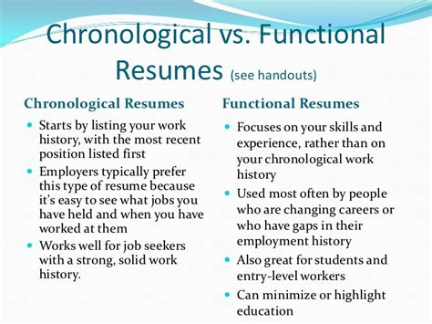 Differentiate Between Chronological And Functional Resume by Chronological And Functional Combination Resume