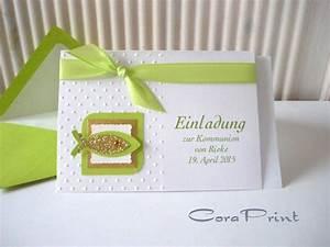Einladung Selber Gestalten : einladungskarten kommunion einladungskarten kommunion selber basteln kostenlos ~ Markanthonyermac.com Haus und Dekorationen