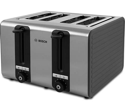 bosch toasters uk buy bosch silicone tat7s45gb 4 slice toaster black and