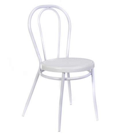 chaise de bistrot blanche chaise bistrot tamara blanc
