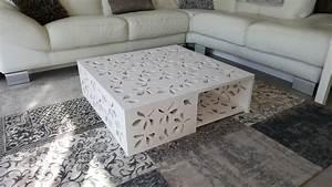 Table De Salon Originale : table basse originale a faire soi meme ~ Preciouscoupons.com Idées de Décoration