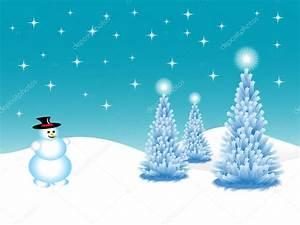 Abstract winter vector background scene — Stock Vector ...