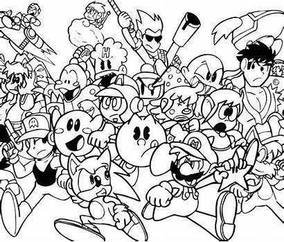 Coloring Pages Games Character Interactive Printable Arcade