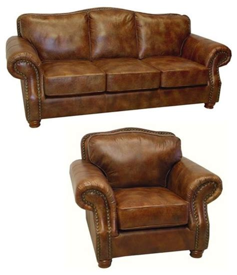 distressed leather sofa brandon distressed whiskey italian leather sofa and chair contemporary sofas by overstock com