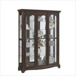 pulaski corner curio cabinet in wood features