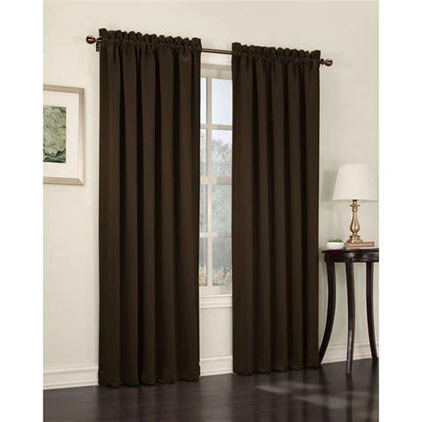 sun zero curtains sun zero semi opaque chocolate gregory room darkening pole