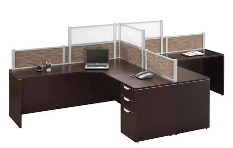 two person l shaped desk dark walnut 2 person l shape desk workstation privacy