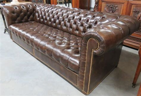 brown leather chesterfield sofa at 1stdibs
