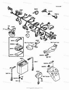 Kawasaki Motorcycle 1988 Oem Parts Diagram For Chassis Electrical Equipment