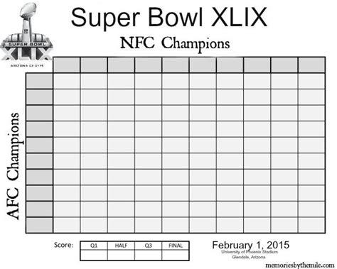 super bowl xlix pool football squares super bowl