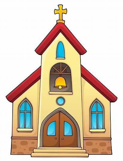 Church Clipart Building Vector Clip Bell Theme