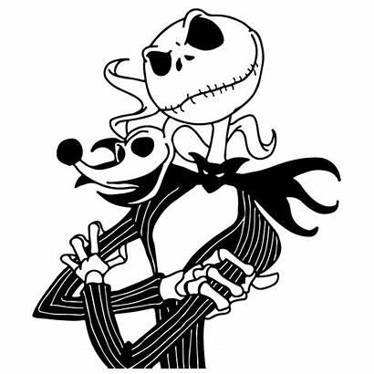 Skellington Jack Clip Clipart Drawing Nightmare Before