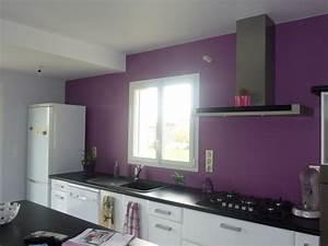 Cuisine Couleur Aubergine : cuisine moderne couleur aubergine avec des ~ Premium-room.com Idées de Décoration