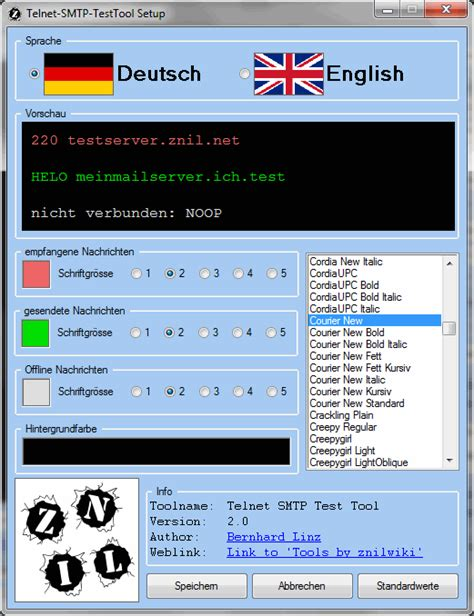 test smtp zniltools telnet smtp test tool znilwiki
