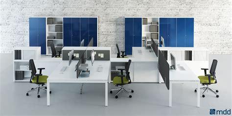 bureaux blancs bureaux open space blanc orange