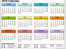 Cute 2016 Calendar Free* 2016 Calendar with Holidays