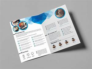 Genesis stylish bi fold brochure template 000850 for Bi fold pamphlet