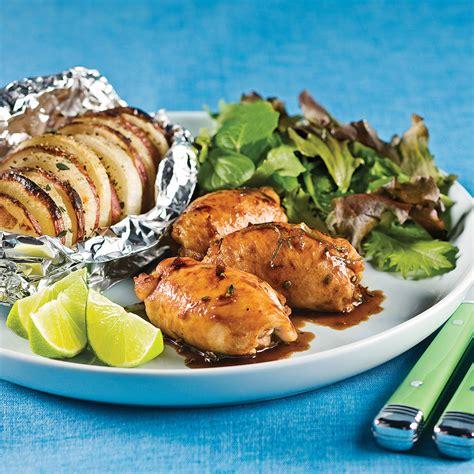 cuisiner les cuisses de poulet hauts de cuisses miel et lime soupers de semaine