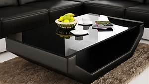 Table Basse Cuir : table basse en cuir cuisine naturelle ~ Teatrodelosmanantiales.com Idées de Décoration