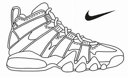 Jordan Coloring Pages Air Shoes Printable Getcolorings