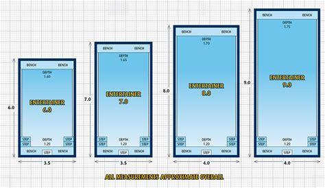 swimming pool dimensions entertainer fibreglass pool swimming pool range masterbuilt pools
