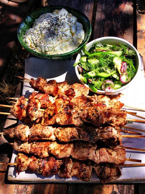 souvlaki recipe greek food sbs food