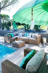 Protection Soleil Terrasse : parasol en bois bali turquoise l 185 cm protection contre le soleil boutique en ligne ~ Nature-et-papiers.com Idées de Décoration