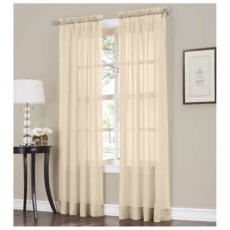 erica crushed voile curtains erica crushed voile panel pairs stoneberry