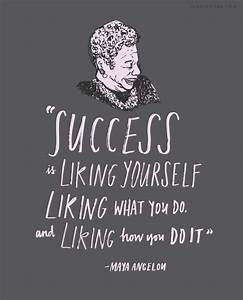 What Success is: Maya Angelou Quote — June Letters Studio