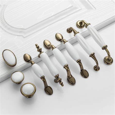 white ceramic door handles european antique furniture handles drawer pulls kitchen cabinet knobs