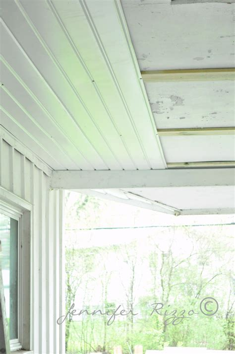 the oak house project renewing a porch ceiling with fascia