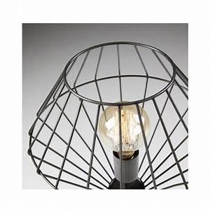 Lampe A Poser Design : lampe cage poser en m tal noir cabana par ~ Preciouscoupons.com Idées de Décoration