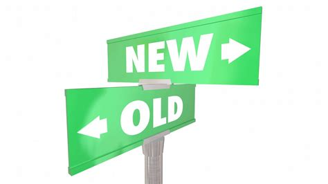 New Vs Old Two 2 Way Road Street Signs 3d Animation Motion