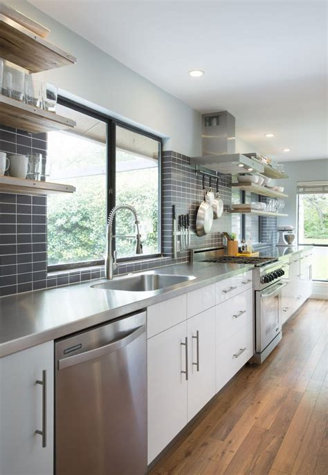 tiny galley kitchens modern white grey galley kitchen cultivate 2842