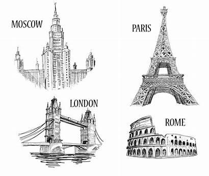 Monuments Paris Rome Londres Eiffel Tower Clipart