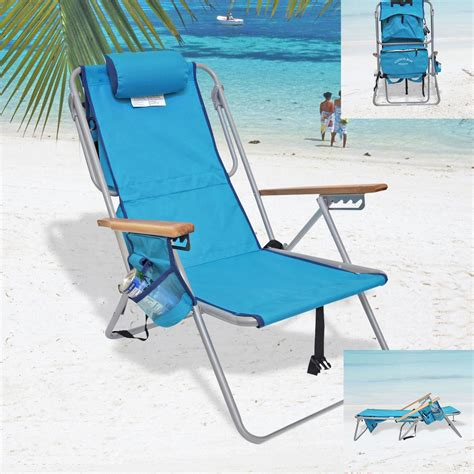 rio deluxe 5 position layflat backpack chair w insulated