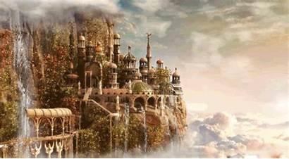 Kingdom Fantasy Castle Clouds Belles Castillo Coral
