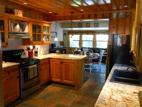 knotty pine kitchen cabinets for beautiful knotty pine home great central vrbo 9644