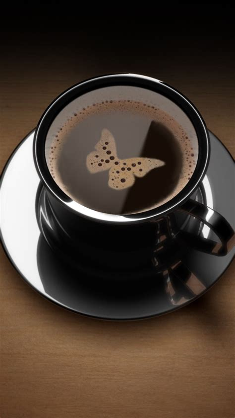 Spilling coffee is the equivalent of losing your balloon. Butterfly in Coffee Cup iPhone 5 Wallpaper HD - Free Download | iPhoneWalls