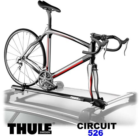 roof rack bike carrier thule circuit 526 car roof bike carrier