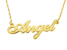 customized pendants personalized 14k gold carrie name necklace