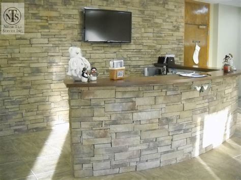 tiled reception desk commercial tile in raleigh cary morrisville rtp