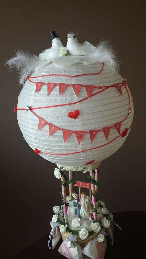 hochzeit heissluftballon basteln heissluftballon basteln