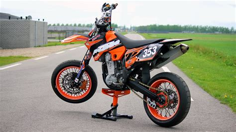 Ktm Exc525 Supermoto With Lots Of Mods!! (engine Sound
