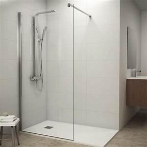 Paroi De Douche : paroi de douche fixe verre 8 mm 100 cm ~ Melissatoandfro.com Idées de Décoration