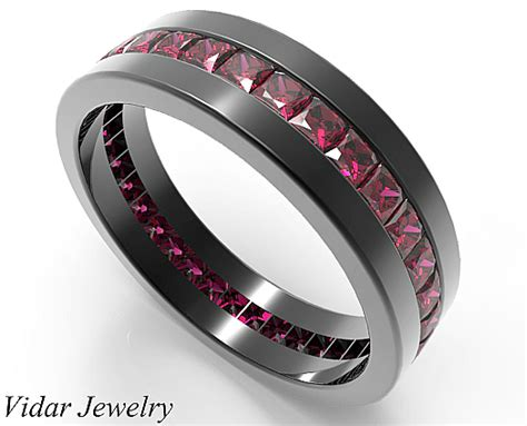 rubies wedding ring for him in 14k 18k black gold vidar jewelry unique custom engagement and