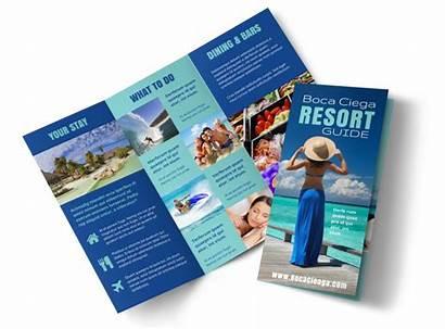 Brochure Resort Template Star Fold Tri Templates